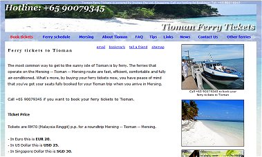 Click here for Tioman Ferry Tickets